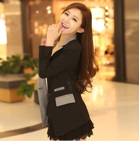 Free Shipping Fashion Hot Women Long Sleeve Suits OL Style Women Blazers Candy color