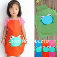 Wholesale lots mix colors  5pcs Frog style Boys Girls Kids Childrens Cooking kitchen Art Paint Smock Apron