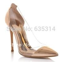 насос же gianvito rossi моды женщин высокие каблуки swarovski crystal насос обувь