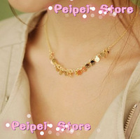 Min order $10 Hot 2015 new fashion jewelry fashion personality wild piece of skull necklace clavicle chain for women