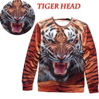 2013 New fashion Women/Men pharaoh/Animal Tiger print Pullovers Funny 3D T Shirts Sweatshirts Hoodies space Galaxy sweaters Tops
