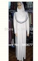 2013 Cotton Silk Muslim Clothing,Islamic Abaya In Dubai,Fashion Arabic Jilbab With Hijab Free Shipping
