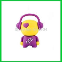 Wholesale Cute cartoon music memory stick flash pen drive 4GB 8GB 16GB 32GB USB Flash Memory Drive Stick Pen/Thumb/Car