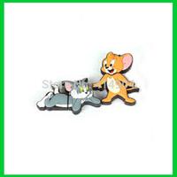 Wholesale USB Flash Drive Tom Cat Mouse Cartoon USB Flash Memory Pen Drive Stick 1GB 2GB 4GB 8GB 16GB 32GB