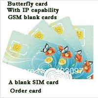 Butterfly card &With the function of IP & GSM blank card & SIM card &Order blank card