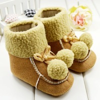 13901HOT!Baby Girls Toddler Infants Shoes Child Cute Warm Boots winter For Kids Footwear First Walkers 6 Pairs/Lot