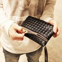 Fall handbags hand knit zipper pouches Korean hot dinner purse pu bags handbags wholesale