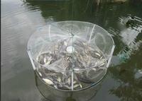 Fashion new design Durable Nylon Eels Shrimp Crab Loach Trap Cast Steel Wire Frame Fishing Net