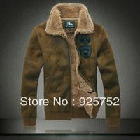 New Men'S Casual Denim Jacket Plus Thick Velvet Jacket Autumn