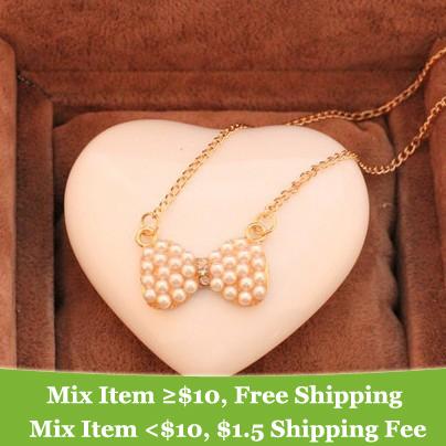 Cheap Fashion Jewelry Wholesale China Fashion cheap pearl bow