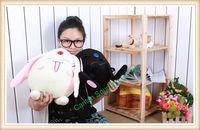 Free Shipping One Pair 11 Inches  Big Lovely & Cute GOOD QUALITY & WORKMANSHIP Tsubasa Mokona Plush Toy, IN STOCK Fast Shipping