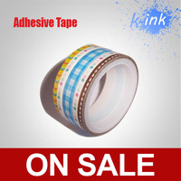 Канцелярская клейкая лента Rainbow washi self adhesive paper tape, colorful pure Japanese tape for home decoration, scrapbooking tape