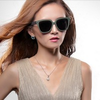 New Brand Design Polarized Sunglasses Lovers Design Vintage Fashion Sunglasses Unisex Retro Sunglasses With Box Black
