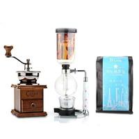 Coffee grinding machine handle syphon coffee beans grinder