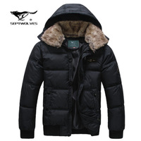 freeshipping Winter male SEPTWOLVES thickening down coat  Men outerwear short design winter clothes size M-XXXL