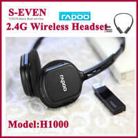 2.4 G Rapoo H1000  Wireless Headset  with microphone for computer  Headphone Free Shipping