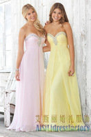 Hot Sale Chiffon Sweetheart Crystal A-Line Long Formal Evening Dresses 2013 Prom Gown