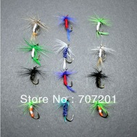 Promotions !free ship,120PCS  Trout hard treble hook dry fly fish lure Fly Fishing Flies Free Shipping MIX COLORES AND STYLES