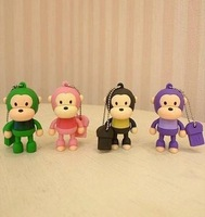 6color monkey Model USB 2.0 Flash Memory Stick Pen Drive, free shipping 1GB 2GB 4GB 8GB 16GB 32GB64GB