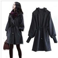 New arrival 2013 winter women's wool coat - puff sleeve woolen outerwear w001