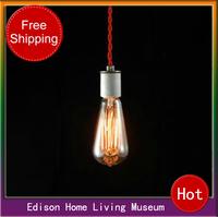 Free shipping E27 ceramic lamp pendant light vintage american light source pendant light pendant light Edison light bulb 220V