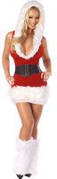 santa claus costume Female Santa Costume, Christmas Fur Lingerie Costume LC7123 Cheap price Drop Shipping