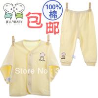 Jellybaby child underwear set 100% cotton newborn baby spring and autumn cotton sweater baby long johns