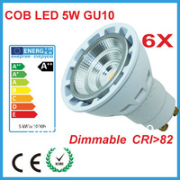Free Shipping 2013 New design 5w  230v gu10 led spot light dimmable 400lm warm white 2700k for kitchen lighting