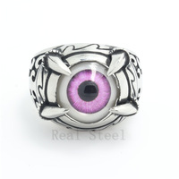 Dragon Claw Best Unisex Colorful Rings For Christmas Gift Terrorist Ghost Pink Eye Cool Ring Stainless Steel Ring Motorbike Punk