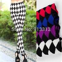 10 pieces 4 colors Fashion sexy rhombus legging diamond women leggings autumn pants