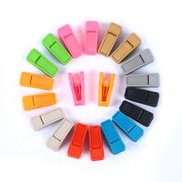 [Free shipping] Plastic Hanger Clips for Flocked Hanger/Velvet Hanger(20 pairs/Lot)