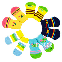 New dog sock fashion cute color pet sock with anti-skid bottom for small medium dogs cats Chihuahua Yorkshire Poodle Pitbull