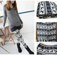 New Nordic Snow Crystal Knitted Womens Leggings, Comfy, Great Quality Pantyhose