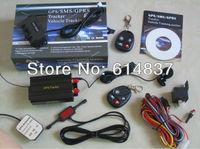 2013 TK103B GPS tracker + 2 remotes+ Shock Sensor SD card Slot Support 13 kinds of Languages Car Alarm Quadband Cut off Fuel