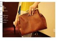 2013 women Designers messenger bag New Fashion Europe Brown Retro Lady Shoulder Purse Handbag antiquates vintage brand Tote Bag