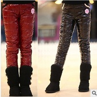 Free shipping 2013 autumn new style Children's winter warm pants down,girl's leggings pants,pants for girls winter 1pcs/lot 583
