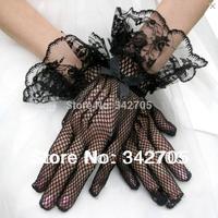 Fashionable 2014 Black/White Wedding Dress Gloves Bride Bridal Gloves Wedding Accessories Brides Gloves Wedding Dress Gloves