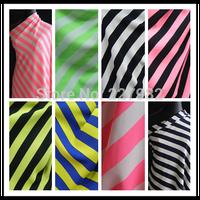 Neon color vertical stripe plaid fashion thickening chiffon diy printed cloth clothing clothes fabric