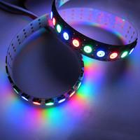 144 Pixels/M WS2812B Chip White PCB WS2811 IC Digital RGB LED Strip Light DC5V