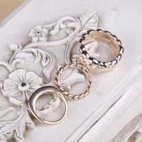 3PCS/Set OL Rings Gentle Cute Carving Rings Women Lady Girls