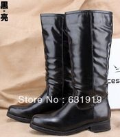 Women's shoes boots flat heel tall boots motorcycle boots boots high-leg