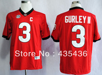 Free shipping Georgia Bulldogs #3 Todd Gurley II Limited Authentic College Football Jerseys,Embroidery Stitch jersey New Arrival