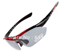 Hot! RockBros Polarized Cycling Sun Glasses Outdoor Sports Bicycle Glasses Bike Sunglasses TR90 Goggles Eyewear 5 Lens