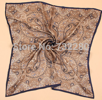 2013 100% real silk Hijab fashion, islamic fashion, Paisley design 90X90cm twill silk scarf, hand rolled edge