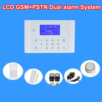 Wireless LCD Touch keypad GSM/PSTN Dual alarm  Home Burglar Security Alarm System GSM alarm systems  DIY kit TS-M2D01