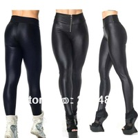 Wholesale 2013 Women Zipper High Waist Neon Candy Colour Gym Sport Leggings