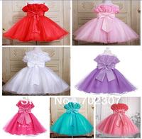 retail White show dress , wedding dress rose flower girl princess dress free shipping 0983