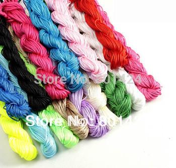 87-3 1MM Chinese Knotting cord Nylon Shamballa Macrame Thread Cord Wire Beading Bracelet 270 Yard  Free Shipping 10Colors Mixed