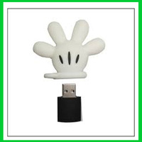Retail cartoon fancy mickey mouse hand Glove USB Flash Drives pen drive memory stick usb drive 2G 4GB 8GB 16GB 32G Free shipping