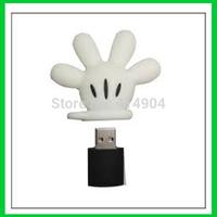 Retail cartoon fancy mickey mouse hand Glove USB Flash Drives pen drive memory stick usb drive 2G 4GB 8GB 16GB 32G Free shipping